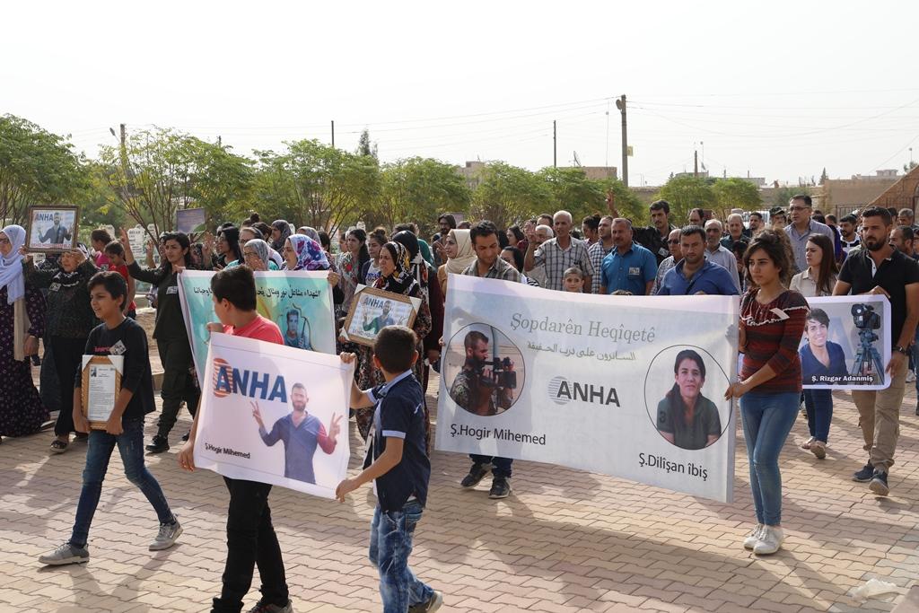 اتحاد الاعلام الحر يشارك في مراسم الذكرى الأولى لاستشهاد دليشان وهوكر