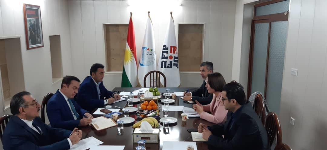 لقاء رسمي بين اتحاد الإعلام الحر ونقابة صحفيي كردستان في أربيل